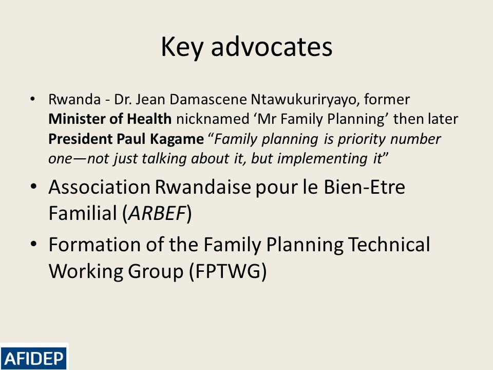 Key advocates Rwanda - Dr.