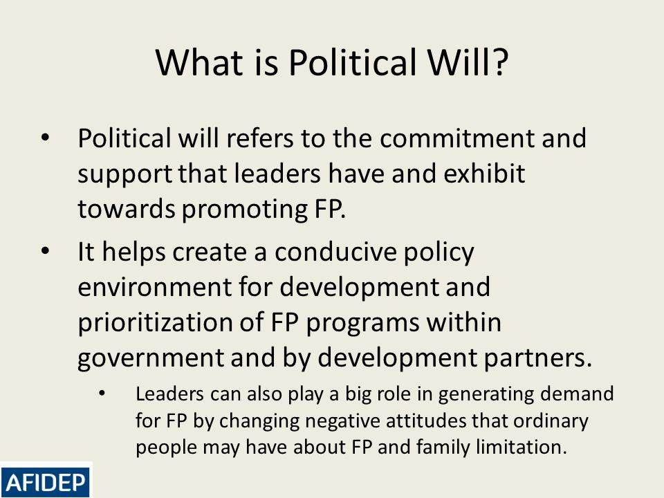 What is Political Will.