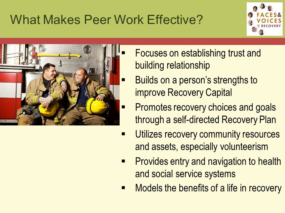 What Makes Peer Work Effective.