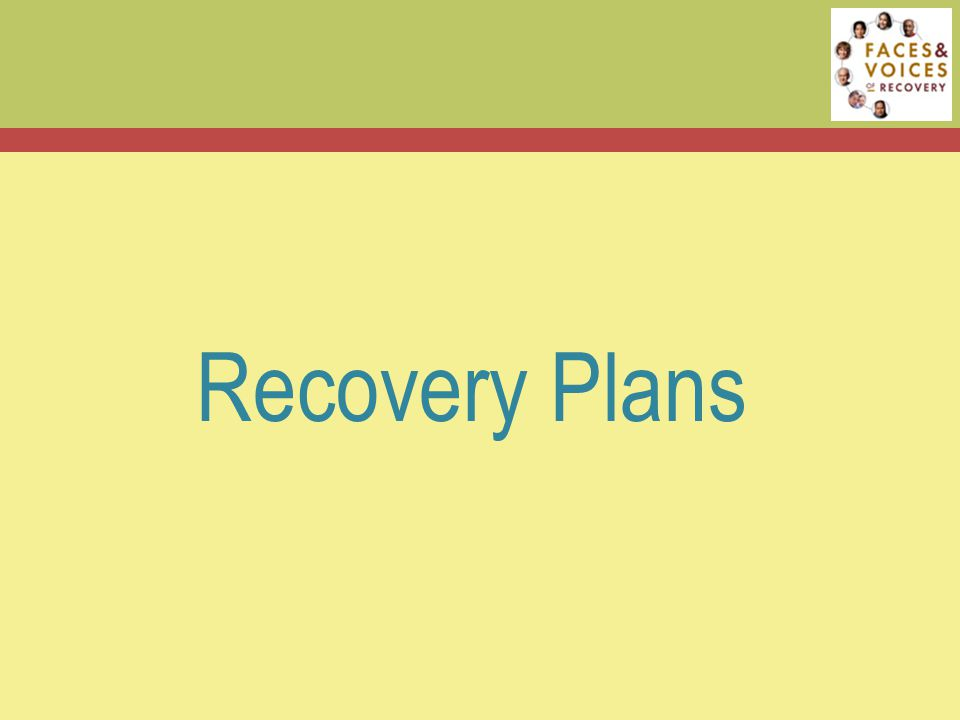 Recovery Plans