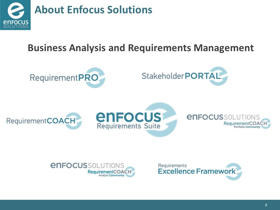 2 About Enfocus Solutions Business Analysis and Requirements Management