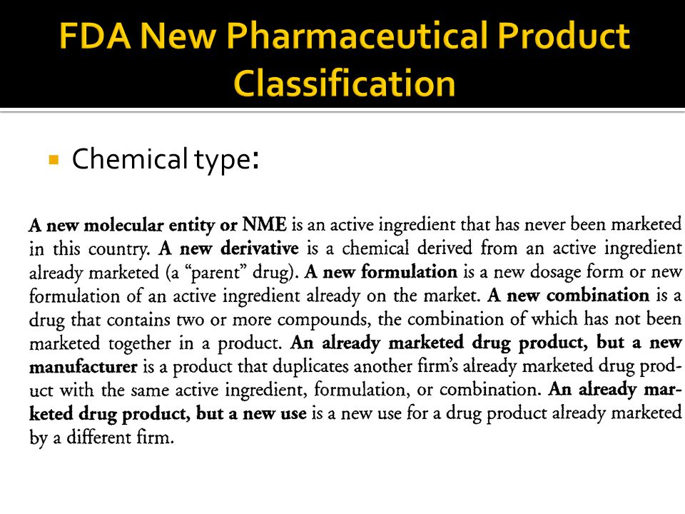  Chemical type: