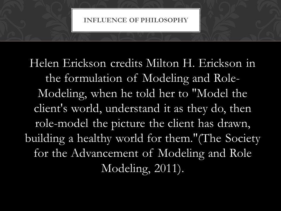 Helen Erickson credits Milton H.