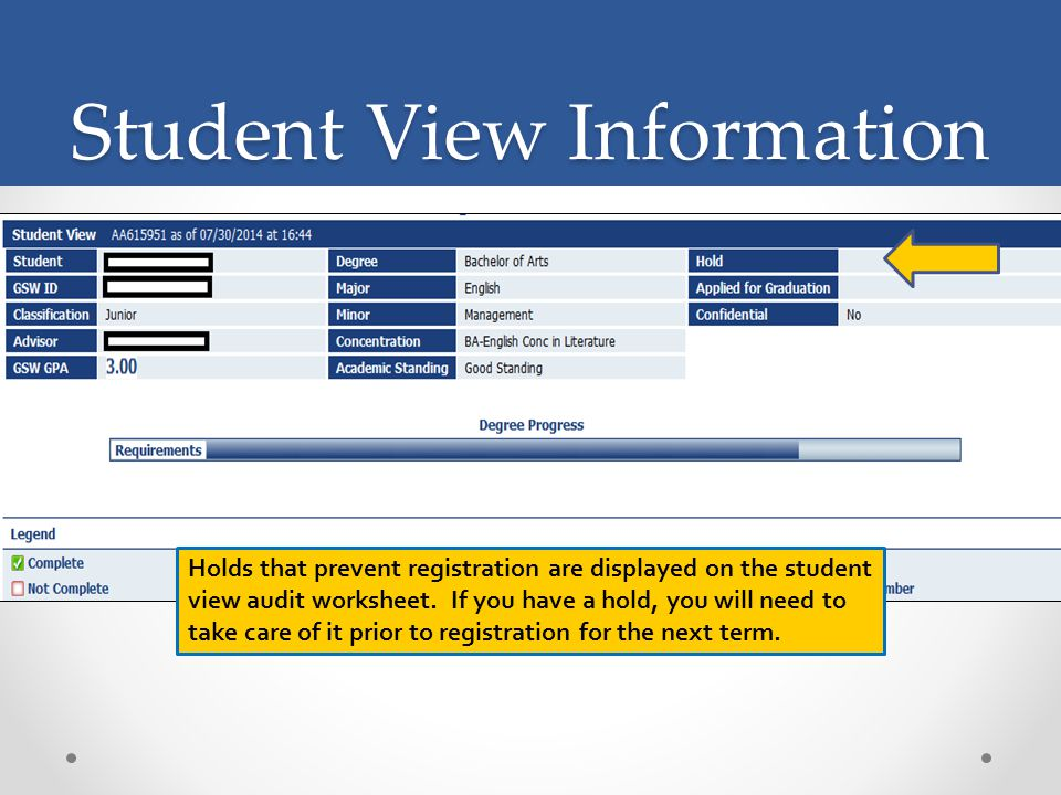 Student View Information.