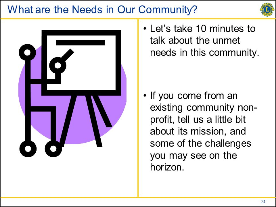 24 What are the Needs in Our Community.