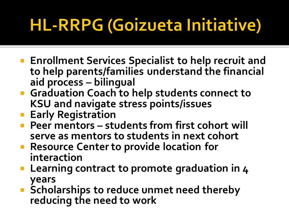  Enrollment Services Specialist to help recruit and to help parents/families understand the financial aid process – bilingual  Graduation Coach to h