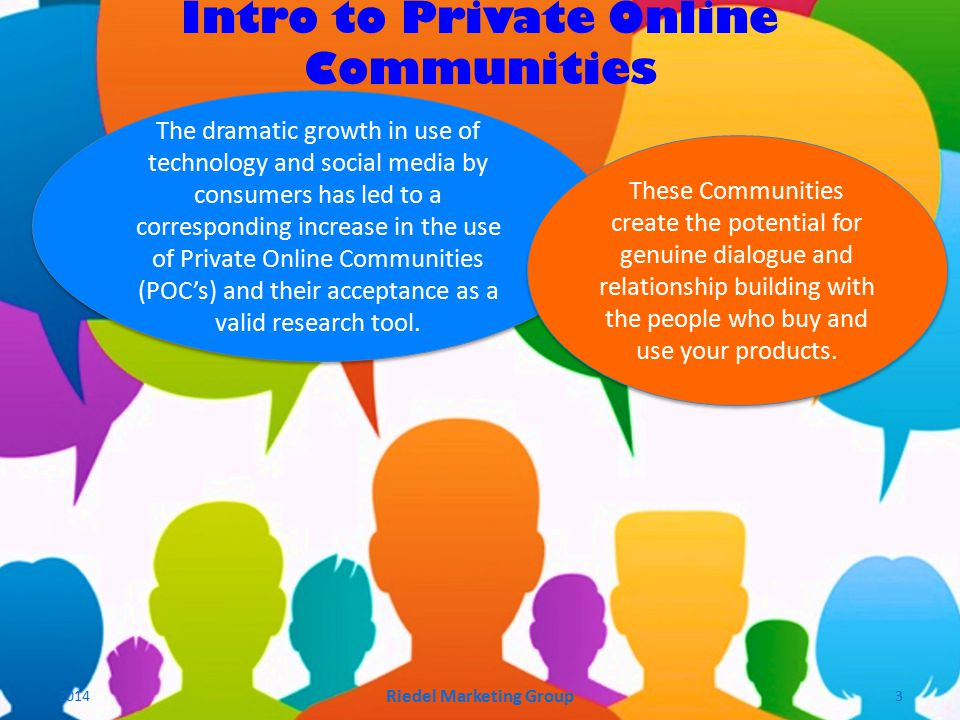 The dramatic growth in use of technology and social media by consumers has led to a corresponding increase in the use of Private Online Communities (POC's) and their acceptance as a valid research tool.