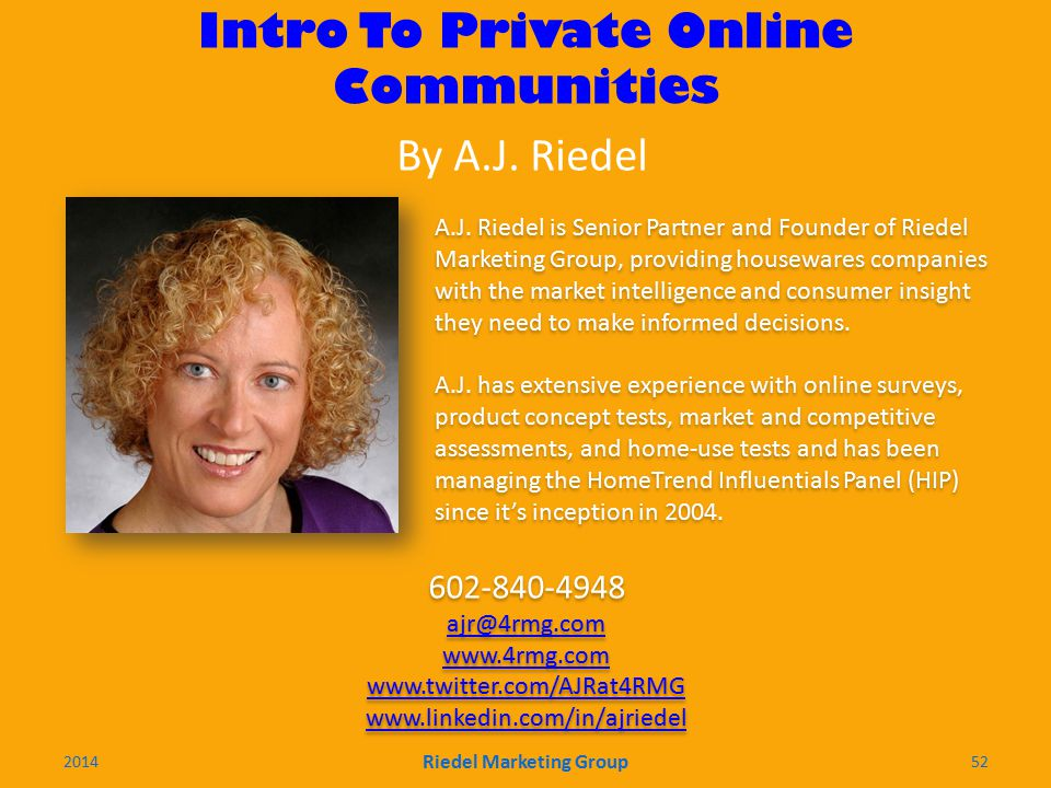 Intro To Private Online Communities A.J.