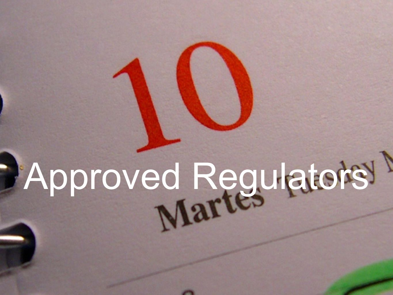 Approved Regulators
