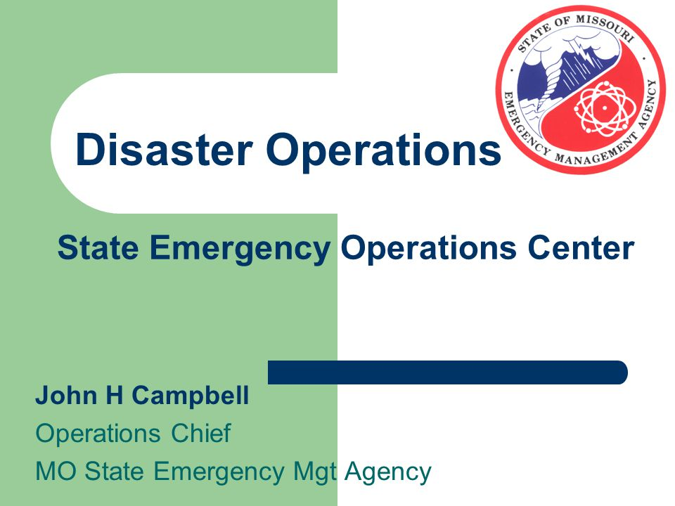 Agenda Role of the State Emergency Operations Center in response and recovery operations Specific actions in previous disasters