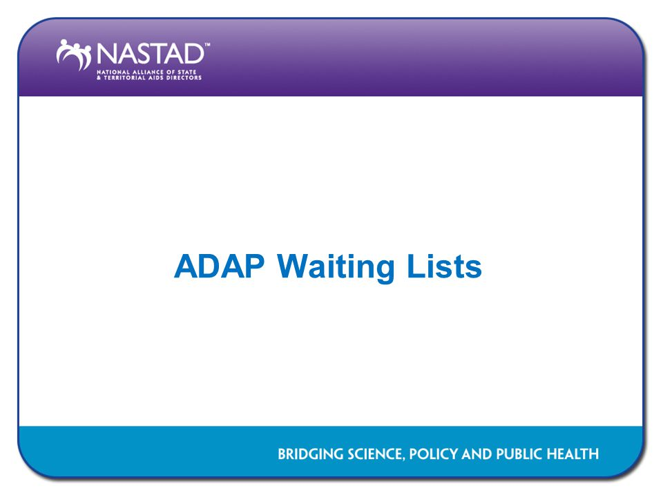 ADAP Waiting Lists