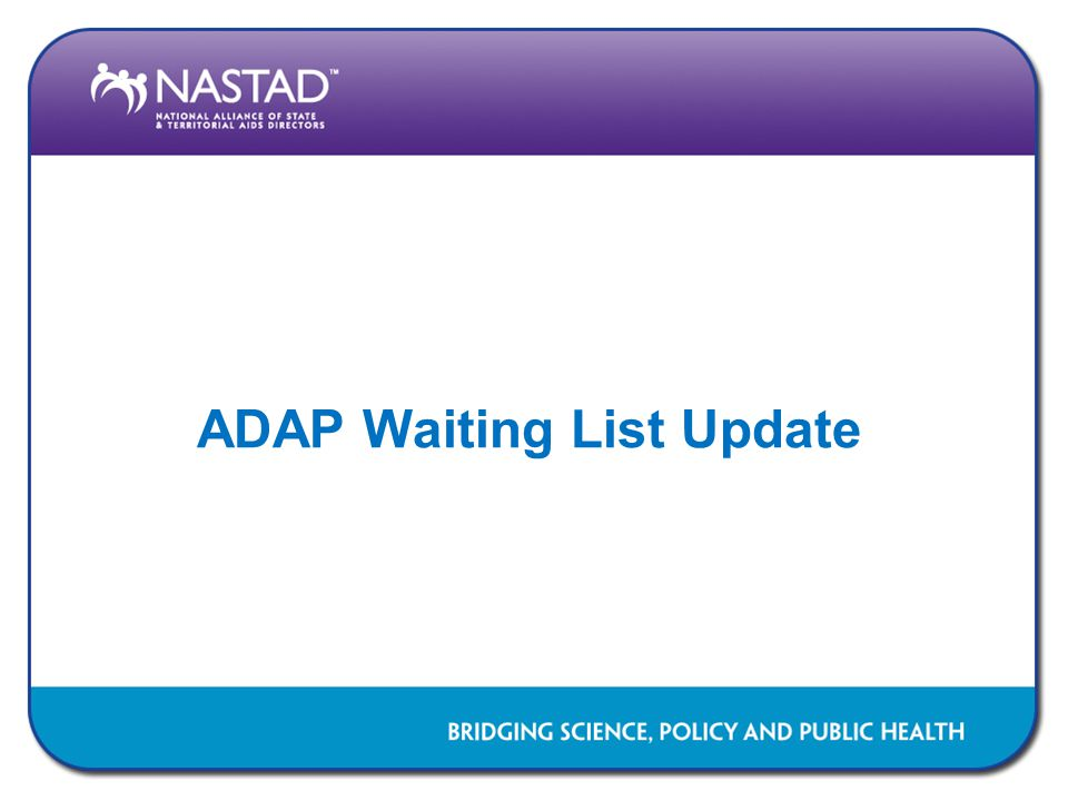 ADAP Waiting List Update