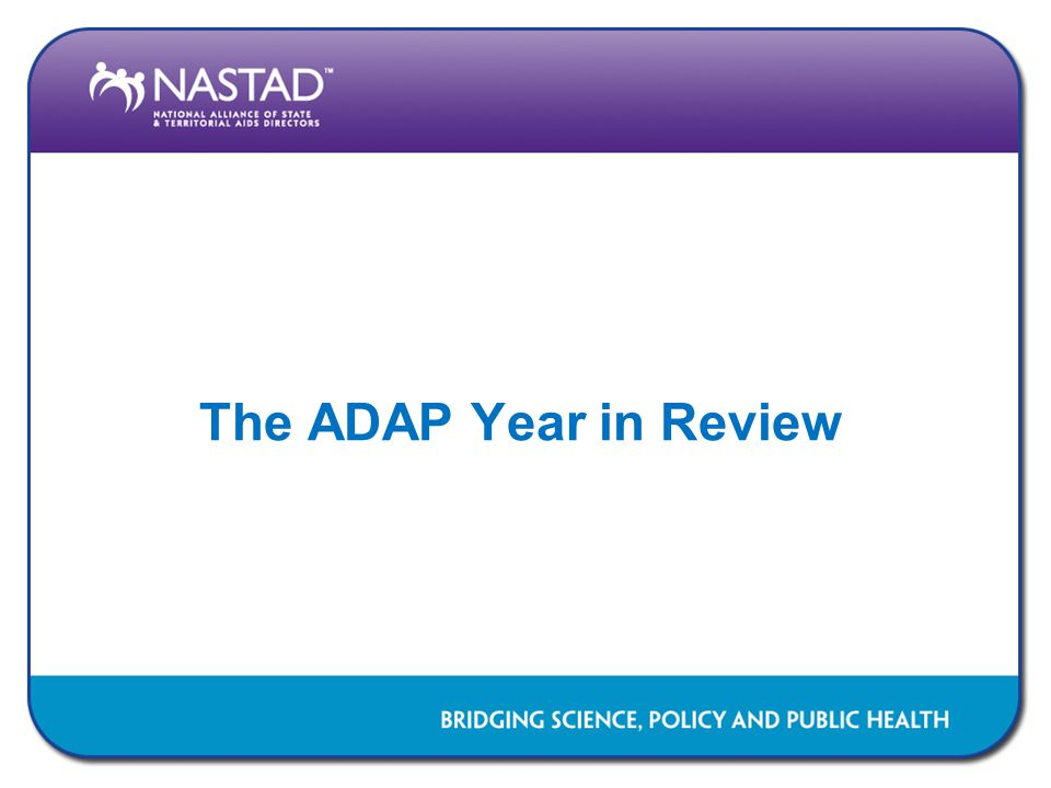 The ADAP Year in Review