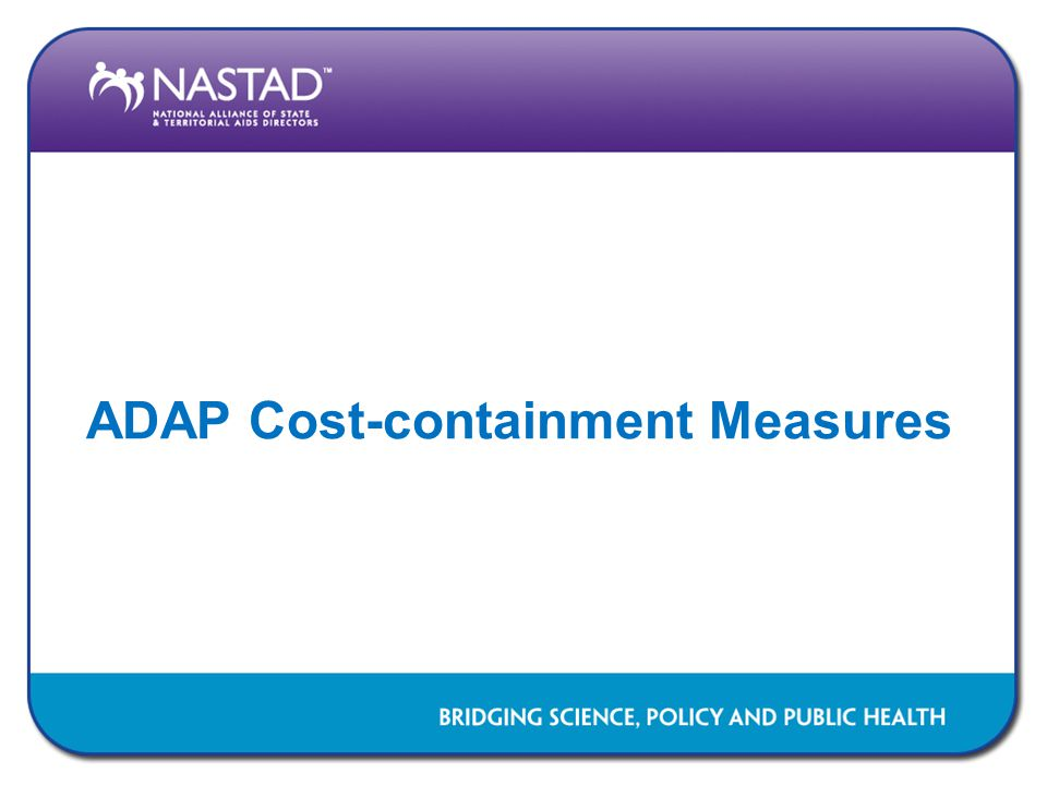 ADAP Cost-containment Measures