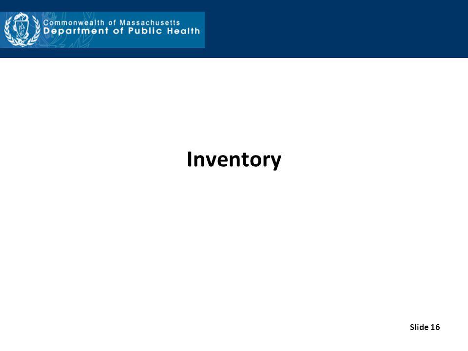 Inventory Slide 16