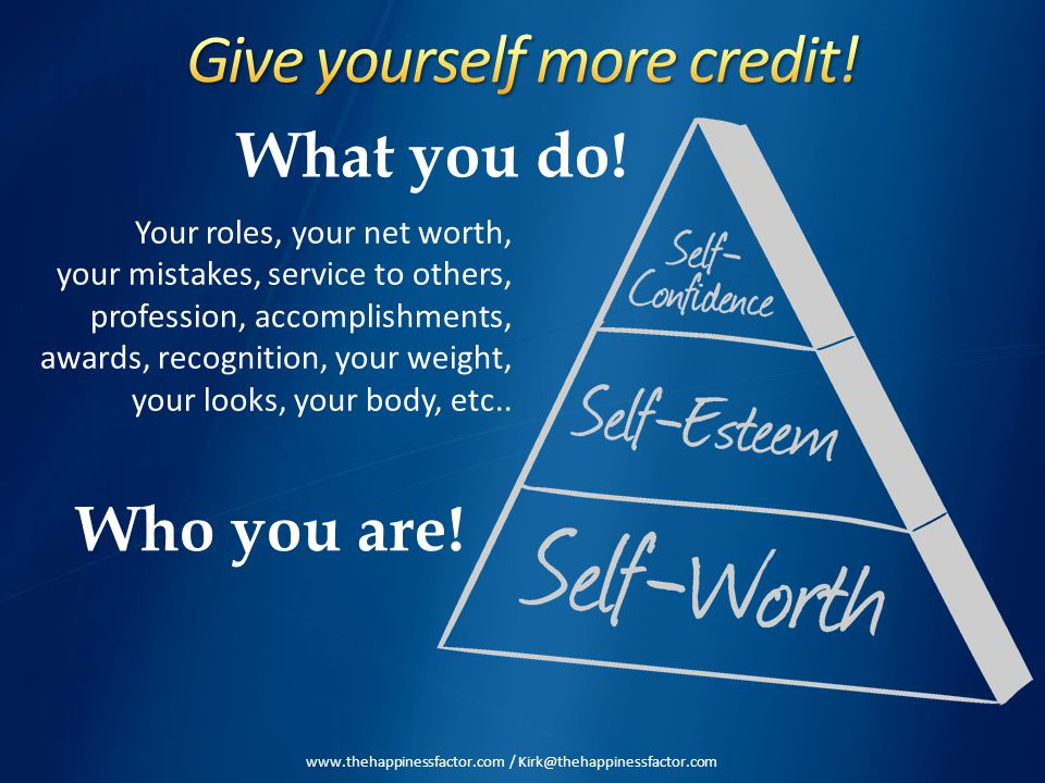 What you do! Who you are! Your roles, your net worth, your mistakes, service to others, profession, accomplishments, awards, recognition, your weight,