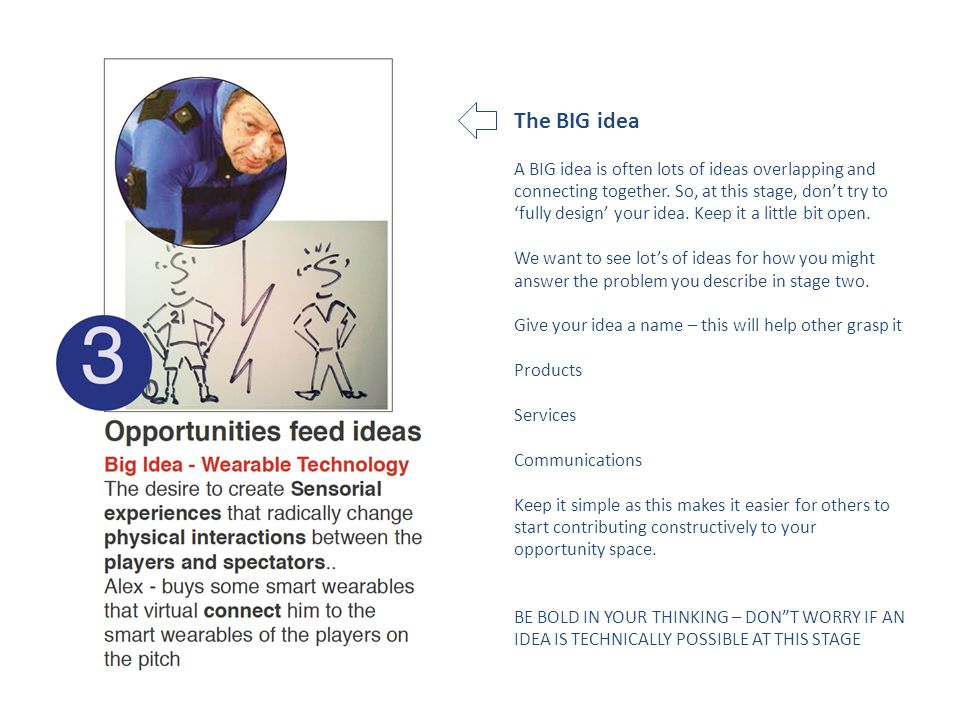 The BIG idea A BIG idea is often lots of ideas overlapping and connecting together.