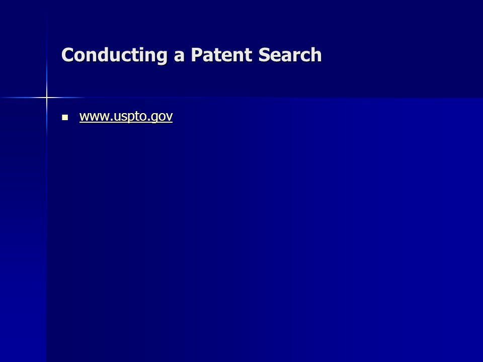 Conducting a Patent Search www.uspto.gov www.uspto.gov www.uspto.gov