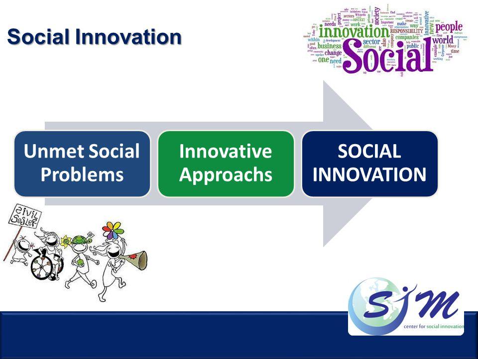 Social Innovation Unmet Social Problems Innovative Approachs SOCIAL INNOVATION