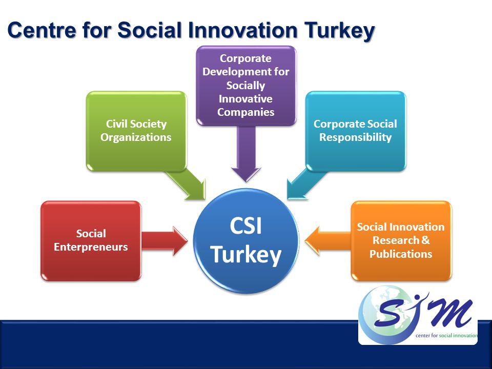 CSI Turkey Social Enterpreneurs Civil Society Organizations Corporate Development for Socially Innovative Companies Corporate Social Responsibility So