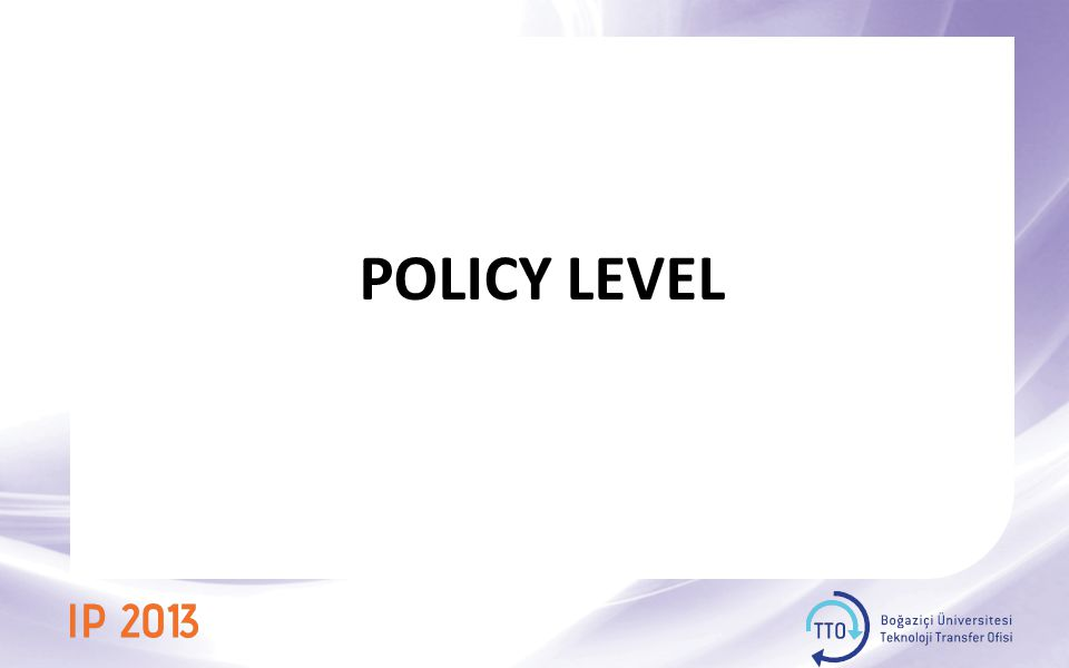 POLICY LEVEL