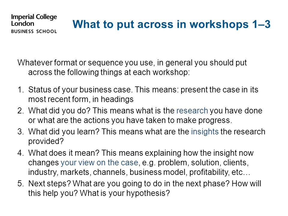 Specific Purpose of workshop 1 1.