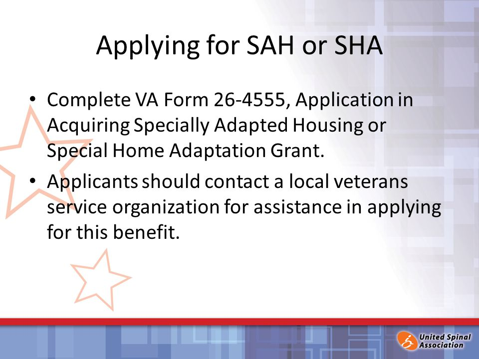 Housing Modification Assistance for Veterans with Disabilities ...