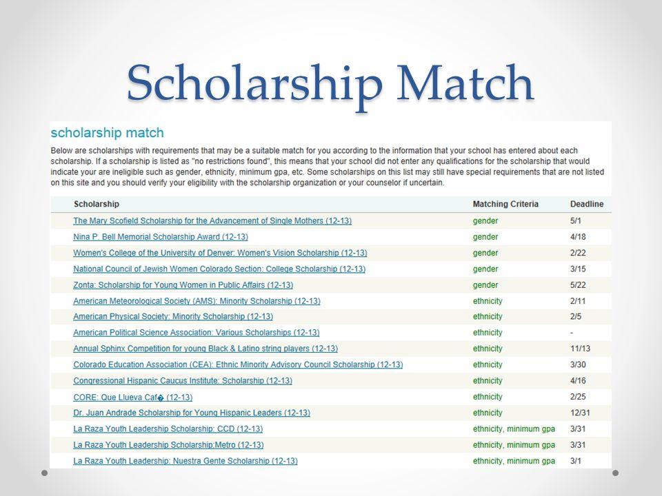 Scholarship Match