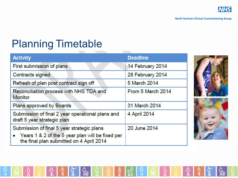 Planning Timetable