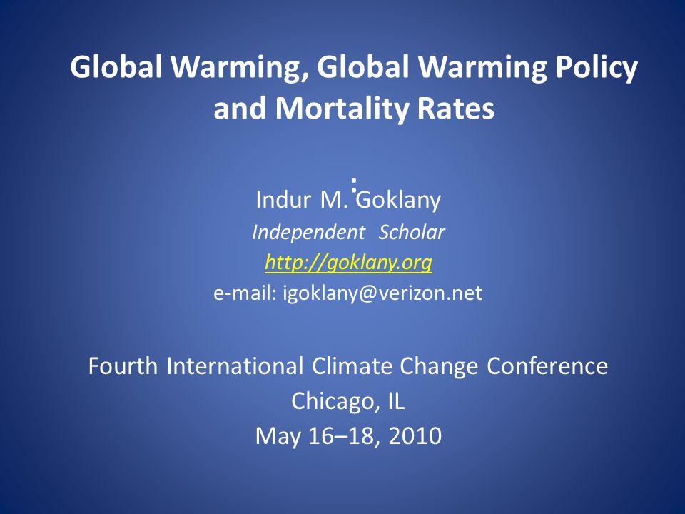 Ranking Global Warming Among Global Health Risks 12