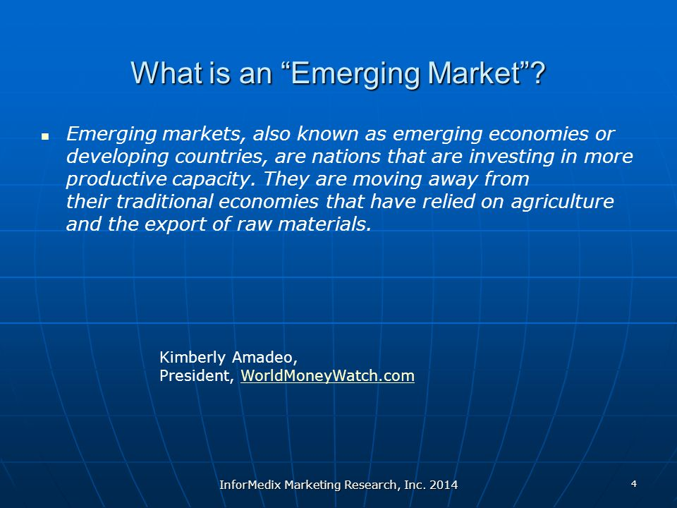 What is an Emerging Market .