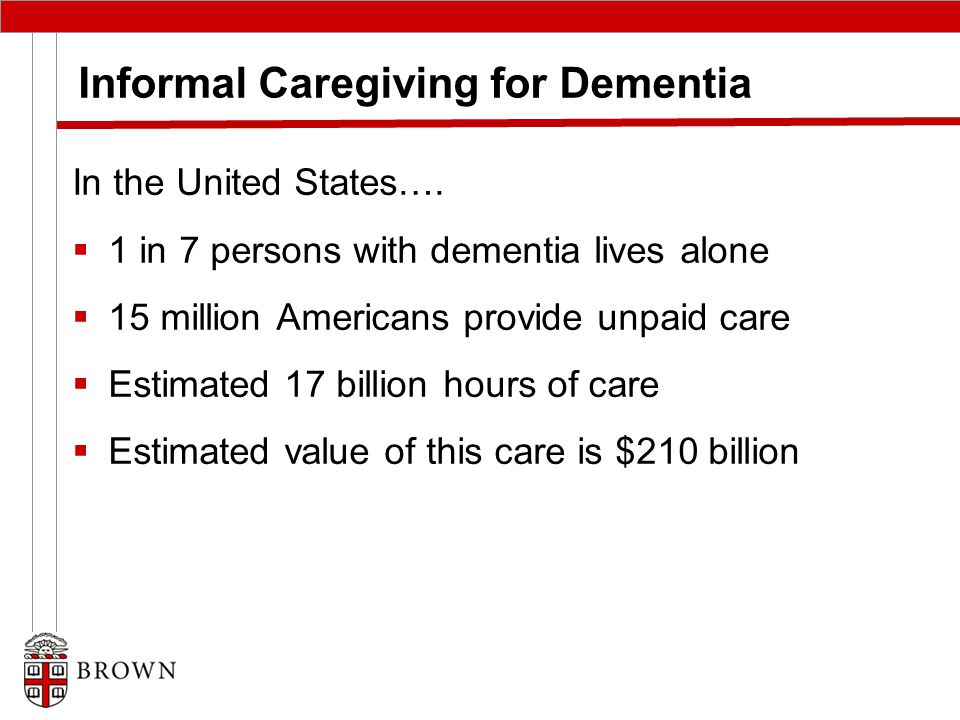 Informal Caregiving for Dementia In the United States….