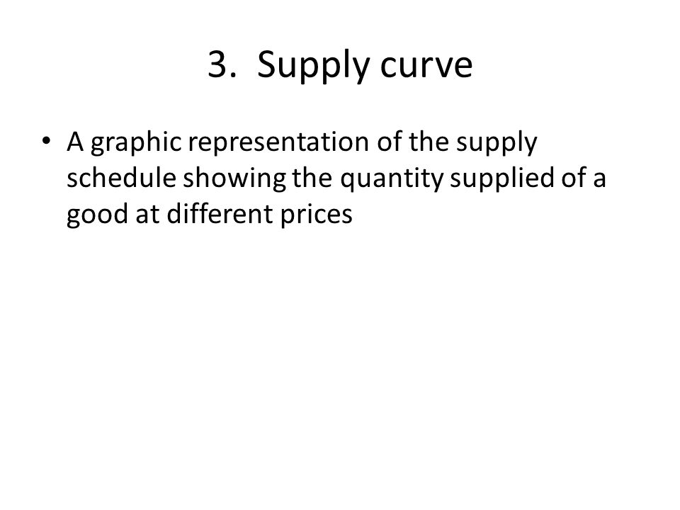 4. Elasticity of supply A measure of the way the quantity supplied reacts to a change in price