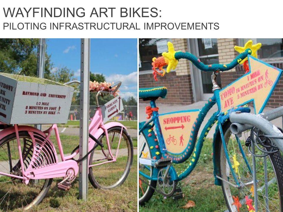 WAYFINDING ART BIKES: PILOTING INFRASTRUCTURAL IMPROVEMENTS