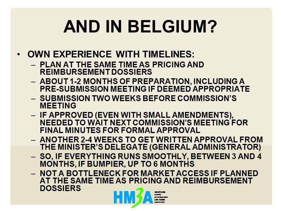 AND IN BELGIUM.