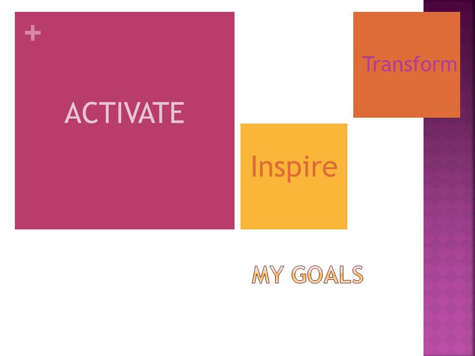 + ACTIVATE Inspire Transform