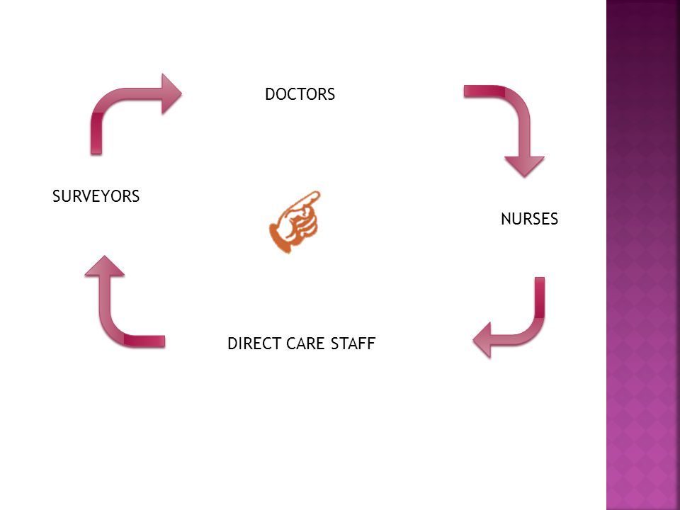 DOCTORS NURSES SURVEYORS DIRECT CARE STAFF