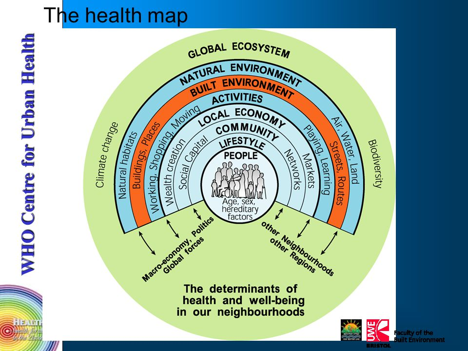 WHO Centre for Urban Health The health map