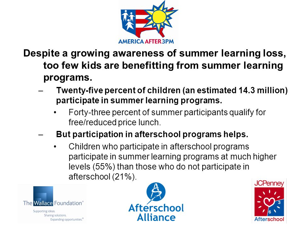 Despite a growing awareness of summer learning loss, too few kids are benefitting from summer learning programs.