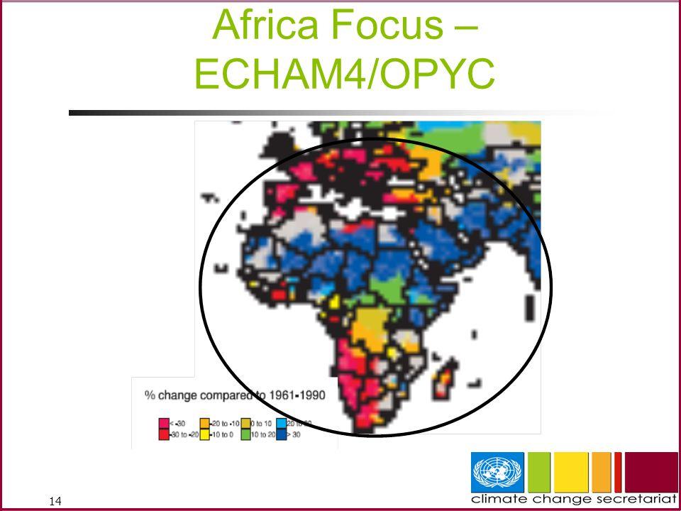 14 Africa Focus – ECHAM4/OPYC