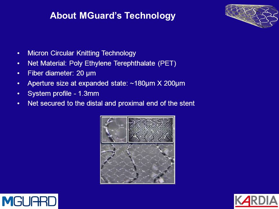 The stent is wrapped with the ultra- thin polymer meshed net The net is designed for maximal flexibility without compromising the strength of the fiber The net expands seamlessly when the stent is deployed