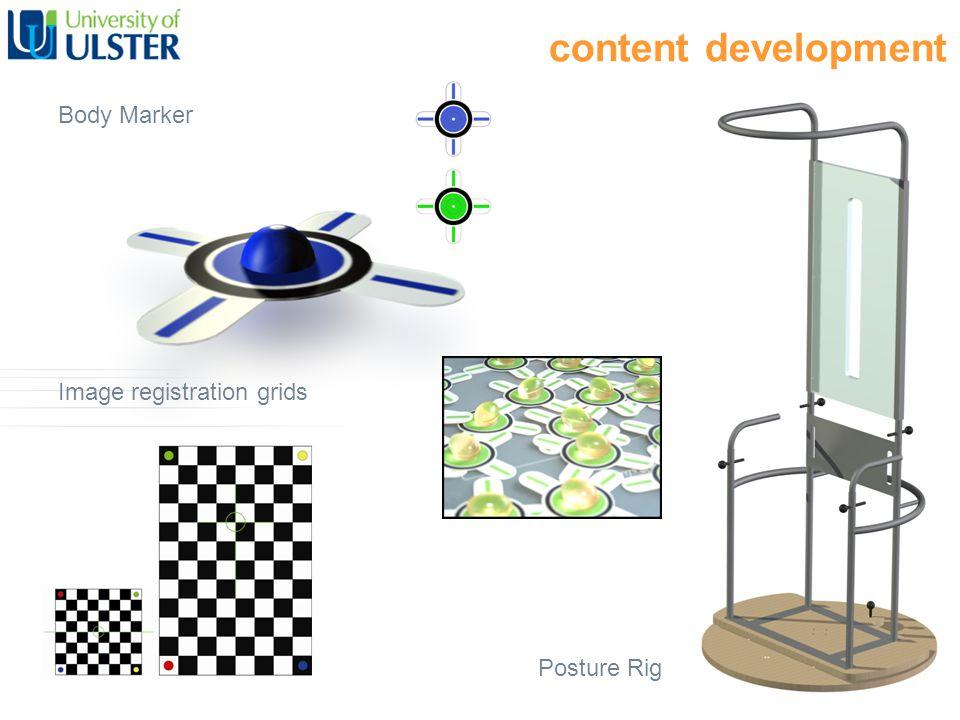 content development Body Marker Image registration grids Posture Rig