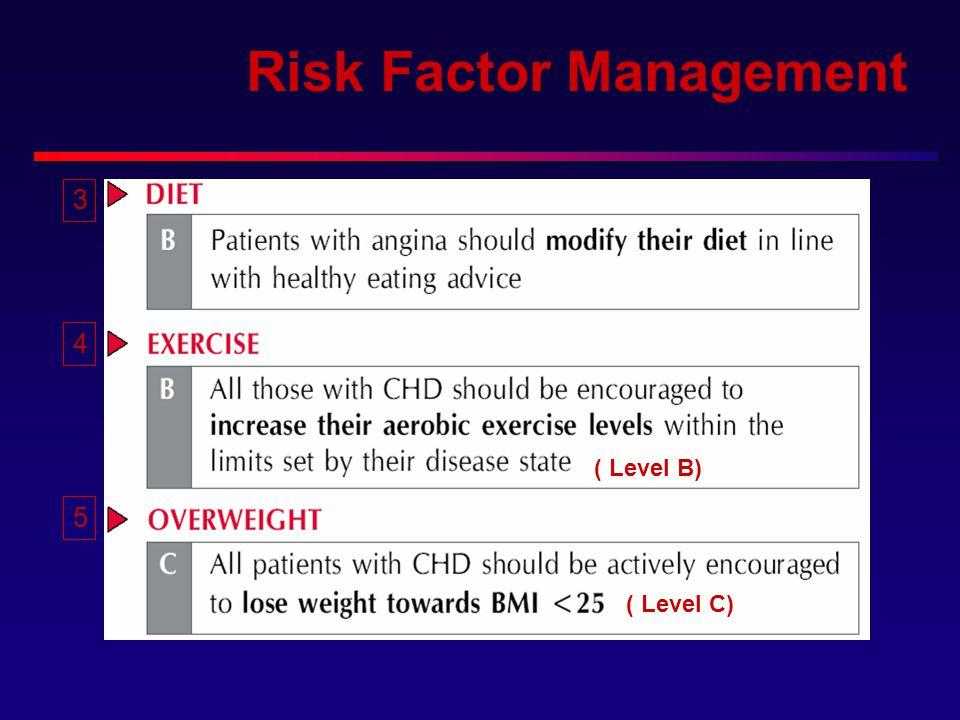 Risk Factor Management 3 4 5 ( Level B) ( Level C)