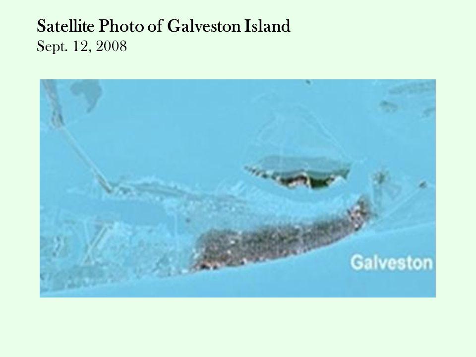 Satellite Photo of Galveston Island Sept. 12, 2008