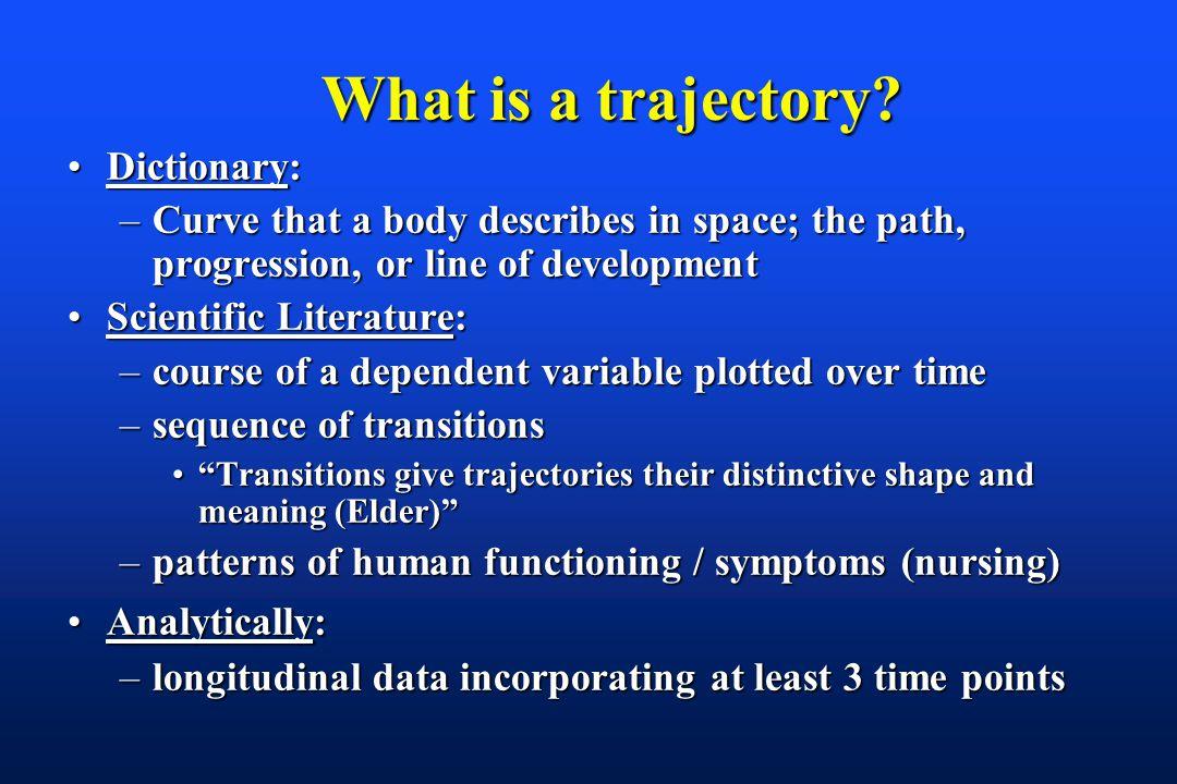 What is a trajectory. What is a trajectory.