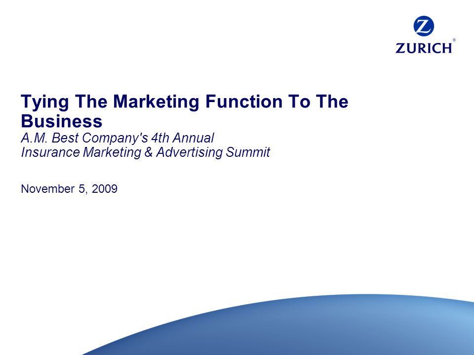 Tying The Marketing Function To The Business A.M.