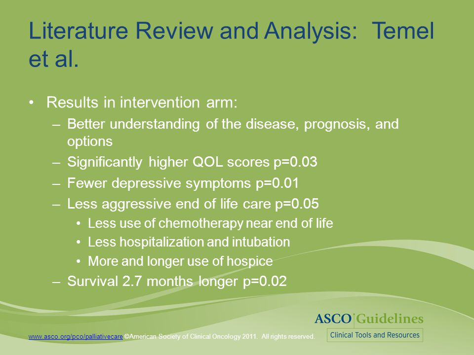 ASCO Guidelines This resource is a practice tool for physicians based on an ASCO® Provisional Clinical Opinion (PCO).