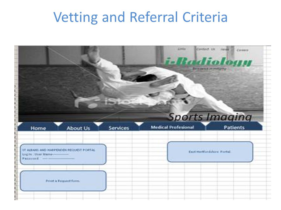 Vetting and Referral Criteria