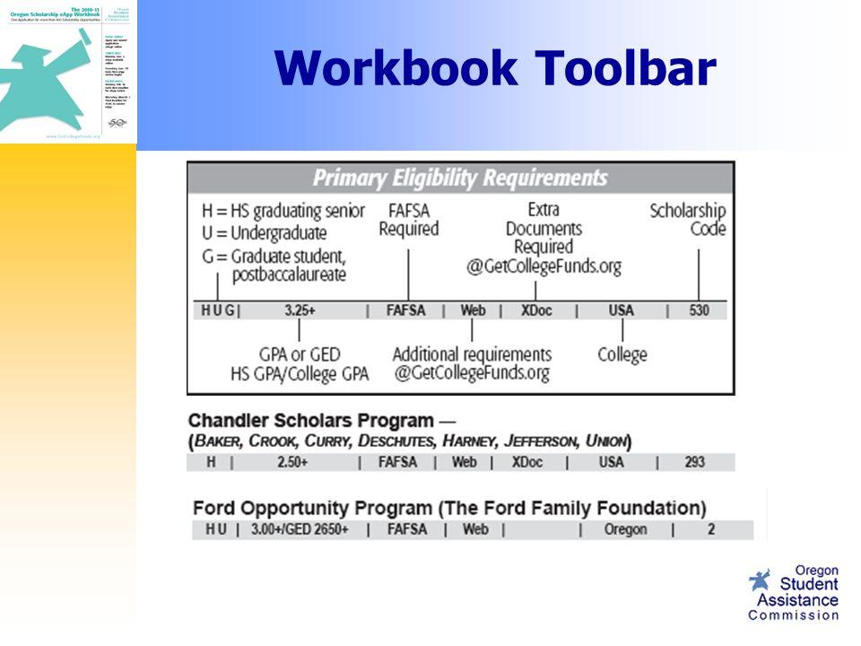 Workbook Toolbar