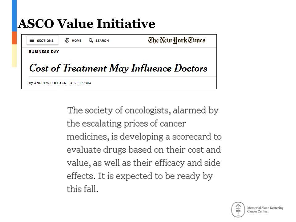 ASCO Value Initiative